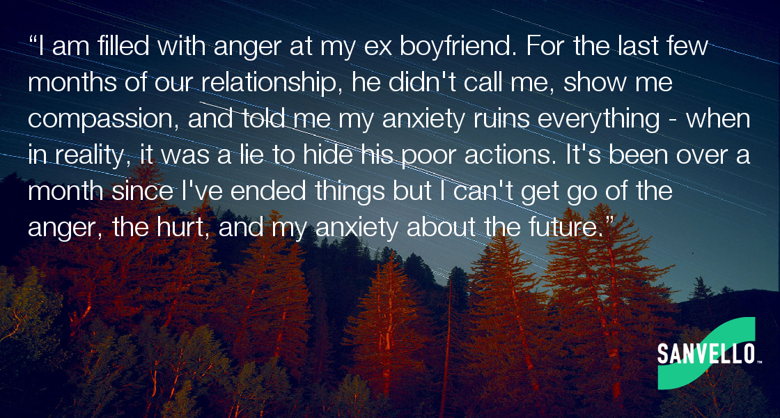 anxiety over ex